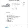 "ARISTA Bath Distribution 1.25"" Grab Bar Spec Sheet"