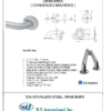"ARISTA Bath Distribution 1.5"" Grab Bar Spec Sheet"