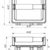 ARISTA Bath Distribution Recessed TP Holder Spec Sheet