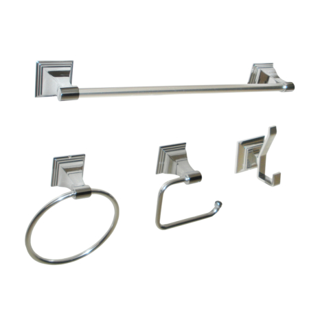 ARISTA® Leonard Collection 4pc Set in Chrome