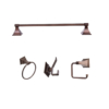 ARISTA® Leonard Collection 4pc Set in Oil-Rubbed Bronze
