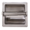 Recessed Toilet Paper Holder in Satin Nickel