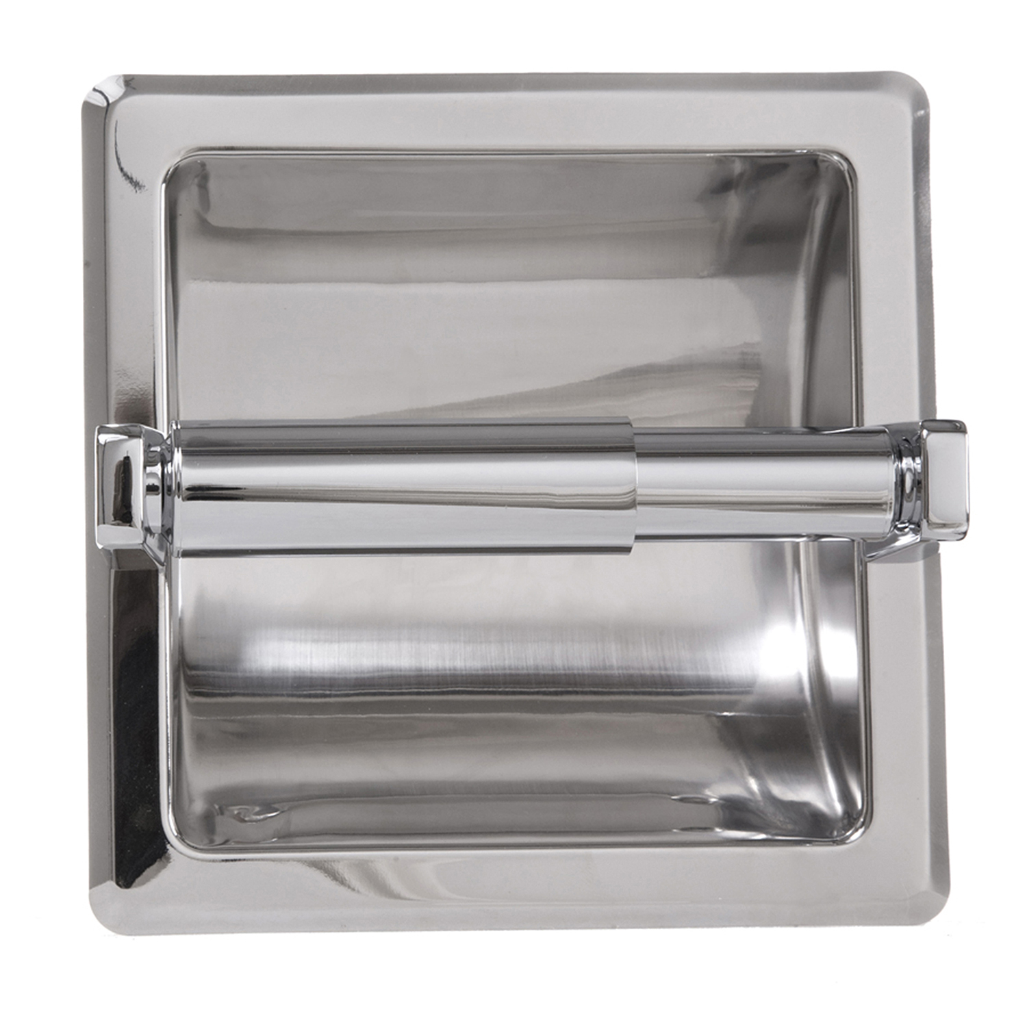 In Wall Toilet Paper Holder Part - 39: ... Recessed Toilet Paper Holder In Chrome