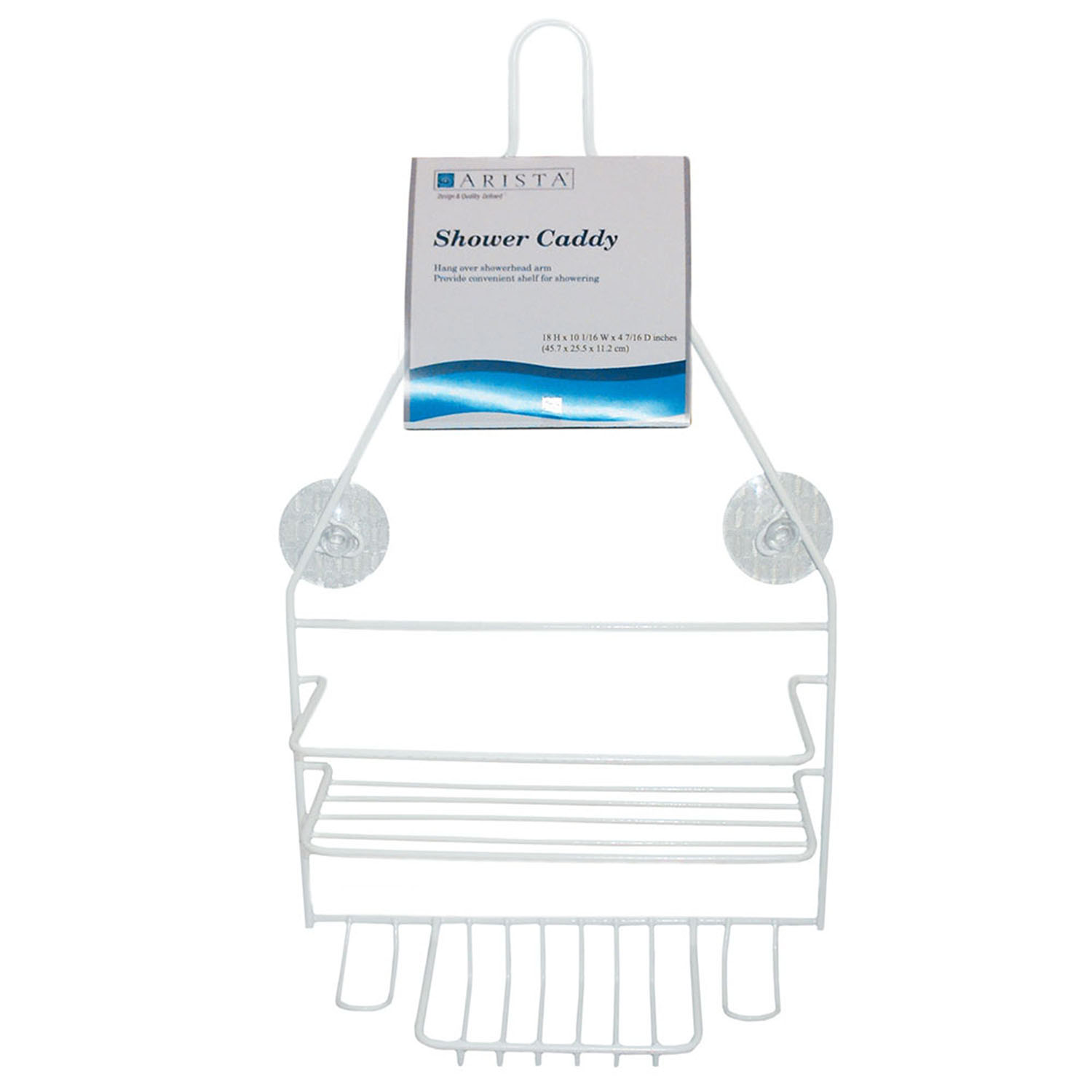 ARISTA® Shower Caddy - White or Chrome | ARISTA® Bath Distribution