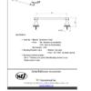 "ARISTA BAth Distribution Leonard Series 18"" Towel Bar Spec Sheet"