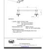 "ARISTA Bath Distribution Leonard Series 24"" Towel Bar Spec Sheet"