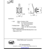 ARISTA Leonard Series Robe Hook Spec Sheet