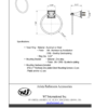ARISTA Bath Distribution Leonard Series Towel Ring Spec Sheet