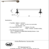 "ARISTA® Cascade Collection 18"" Towel Bar - ARISTA® BAth Distribution"