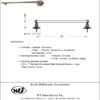 "ARISTA® Cascade Collection 24"" Towel Bar - ARISTA® Bath Distribution"