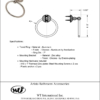 ARISTA® Cascade Collection Towel Ring - ARISTA® Bath Distribution