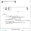 "ARISTA Bath Distribution Belding Series 24"" Towel Bar"