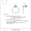ARISTA Bath Distribution Belding Series Towel Ring