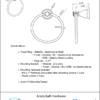 ARISTA Bath Distribution Castilla Series Towel Ring