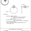 ARISTA Bath Distribution Summit Series Towel Ring