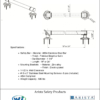 ARISTA Bath Distribution Decorative Grab Bar Style 1 Spec Sheet