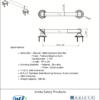 ARISTA Bath Distribution Decorative Grab Bar Style 2 Spec Sheet